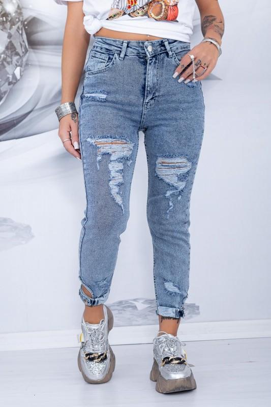 Blugi Dama 8034 Albastru Fashion