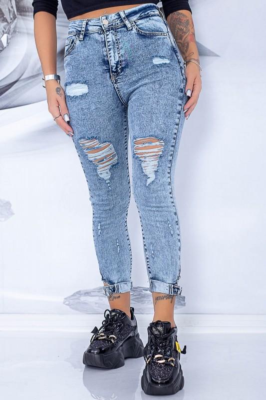 Blugi Dama 8069 Albastru Fashion