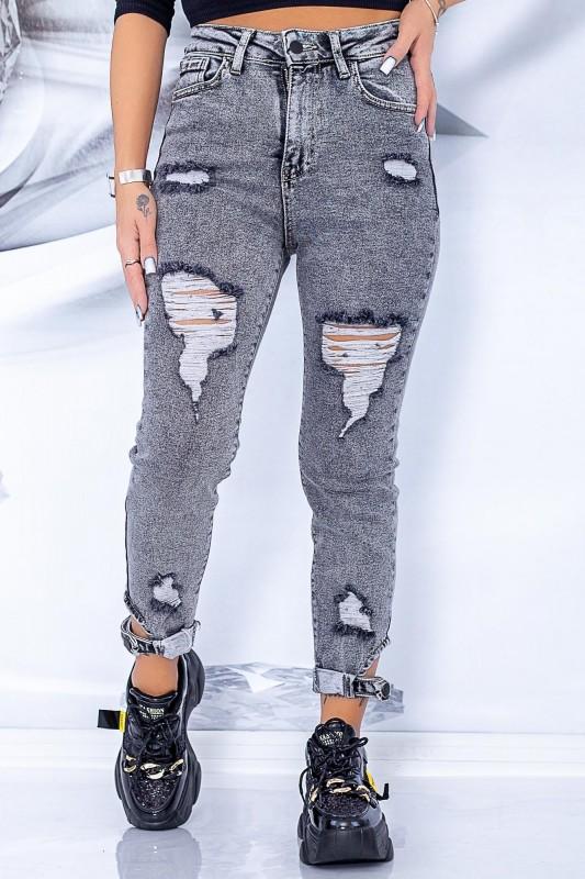 Blugi Dama 8034 Gri Fashion