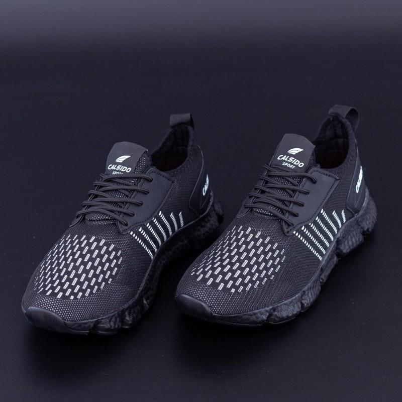 Pantofi Sport Barbati 005 Negru-Alb Calsido