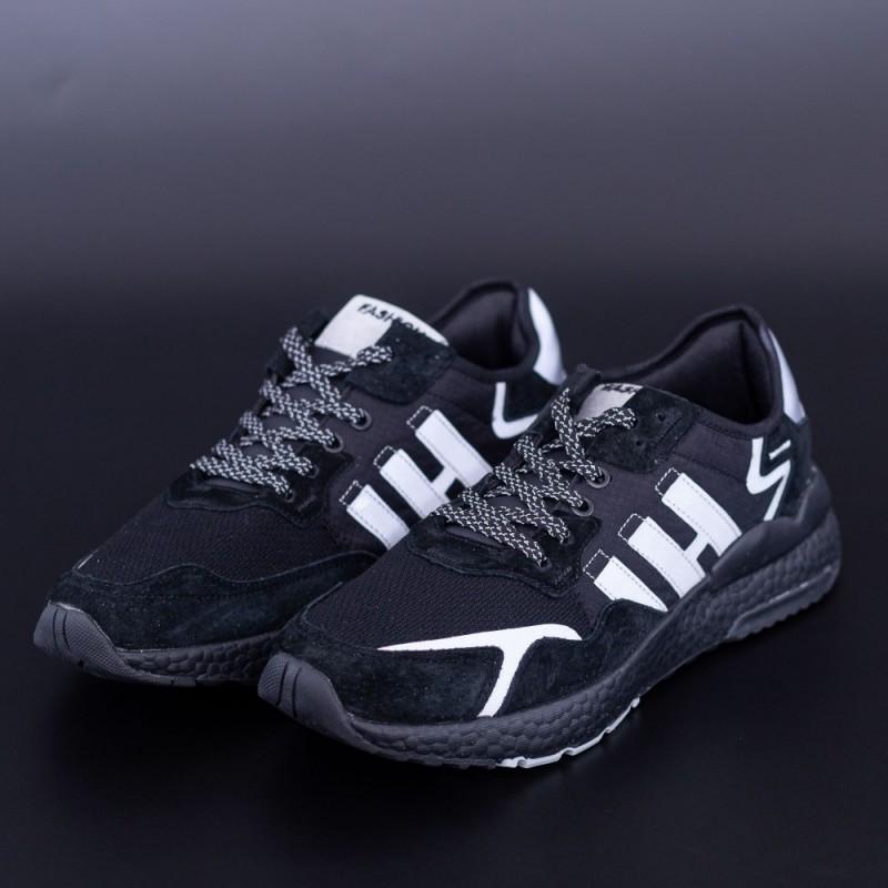 Pantofi Sport Barbati D-1-1 Negru-Gri DCF68