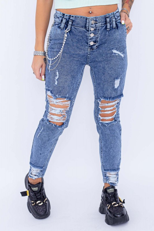 Blugi Dama 13835 Albastru Fashion