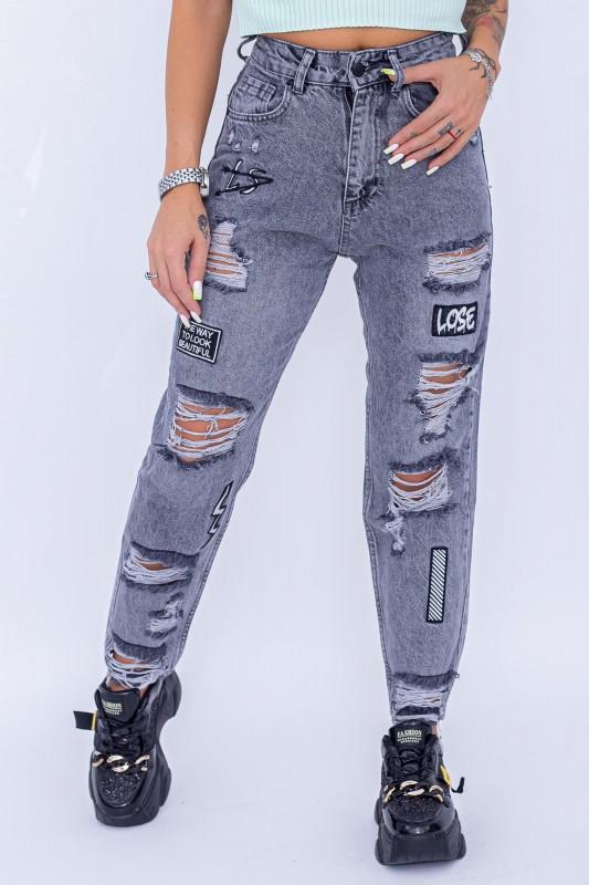 Blugi Dama 13907 Gri Fashion