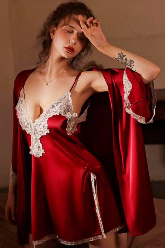 Pijama Dama sexy cu dantela S-396 RoseGirl