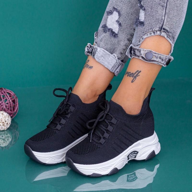 Pantofi Sport Dama cu Platforma KDN18 Negru Mei