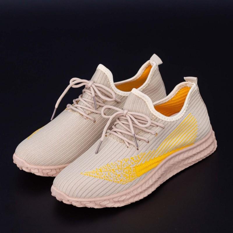 Pantofi Sport Barbati 4061 Bej Fashion