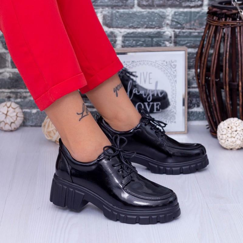 Pantofi Casual Dama OP2A Negru Mei