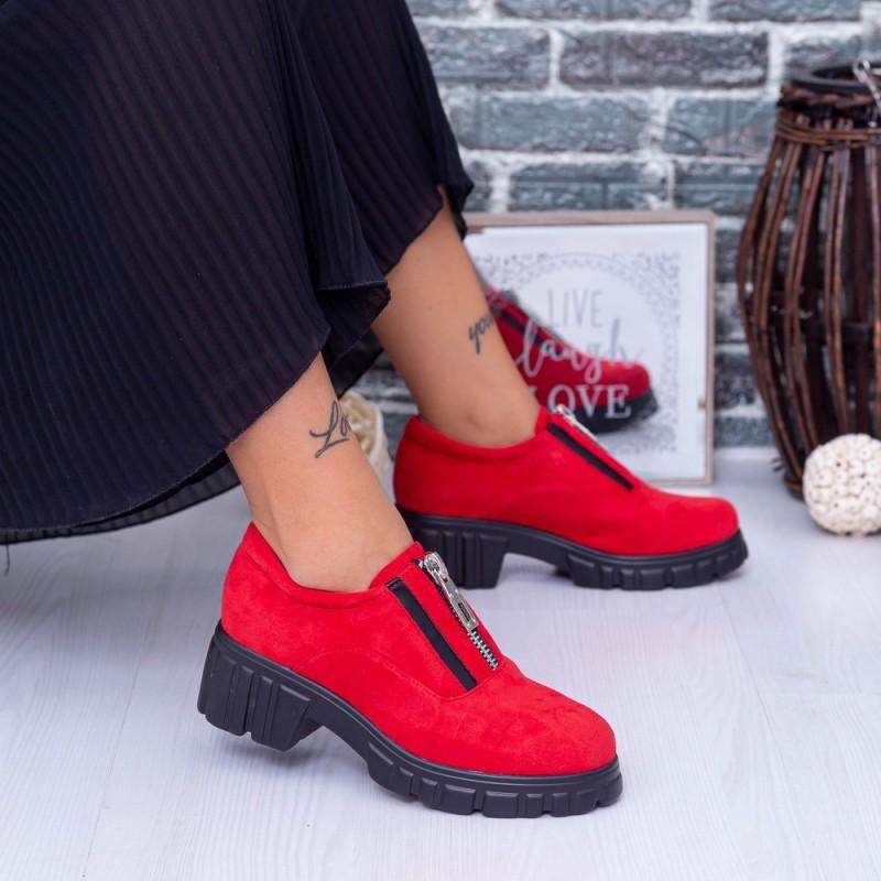 Pantofi Casual Dama OP1A Rosu Mei