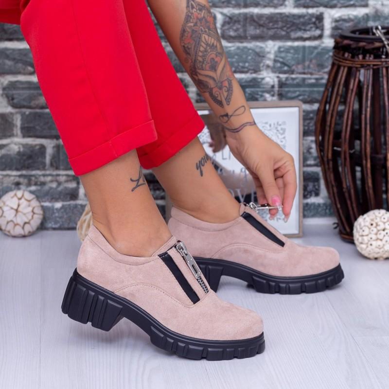 Pantofi Casual Dama OP1A Bej Mei