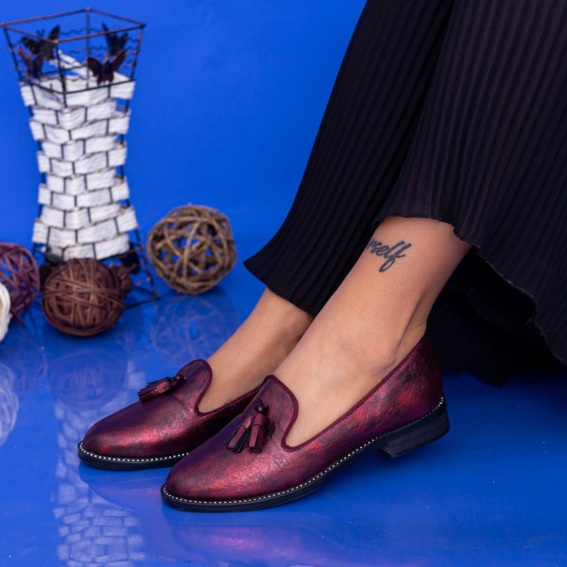 Pantofi Casual Dama GH19122 Maroon Mei
