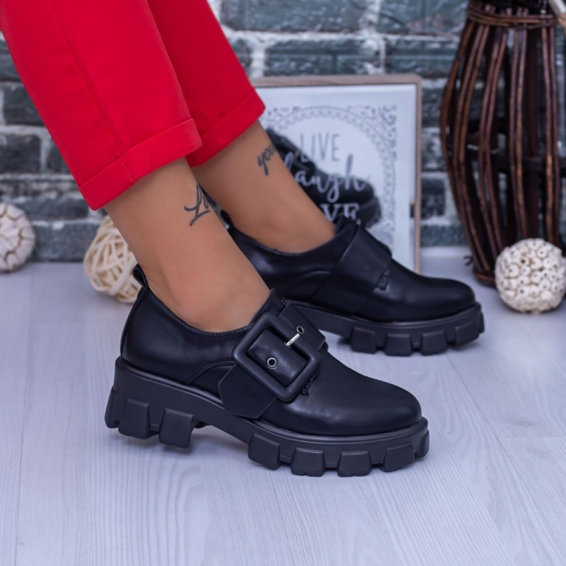 Pantofi Casual Dama DS37A Negru Mei