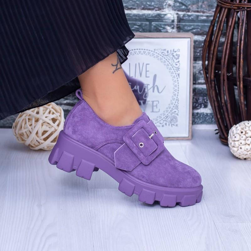 Pantofi Casual Dama DS37 Mov Mei