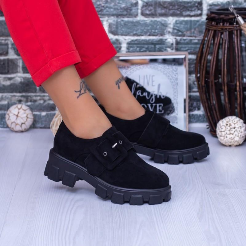 Pantofi Casual Dama DS37 Negru Mei