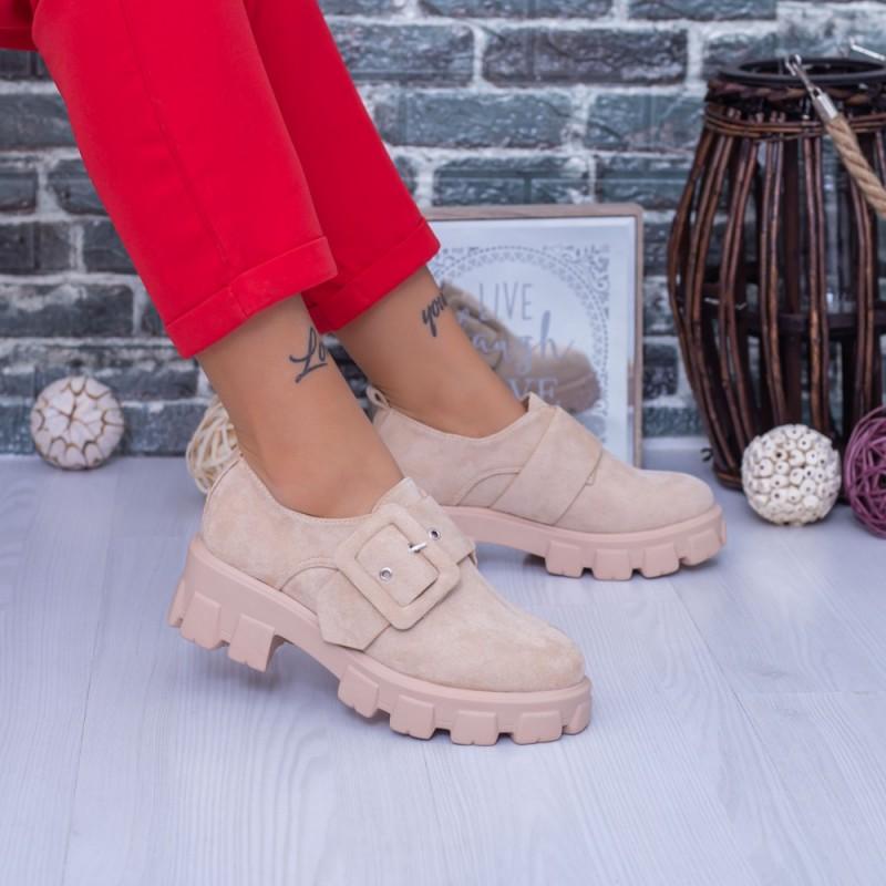 Pantofi Casual Dama DS37 Bej Mei