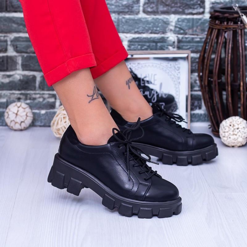 Pantofi Casual Dama DS38A Negru Mei