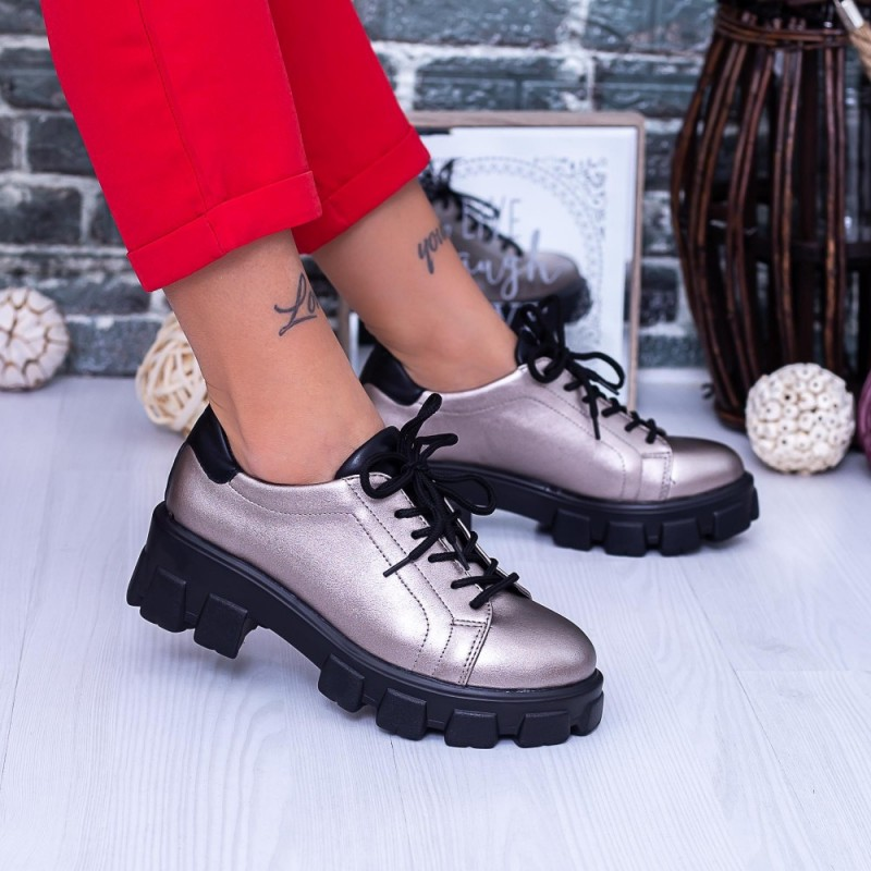 Pantofi Casual Dama DS38A Guncolor Mei