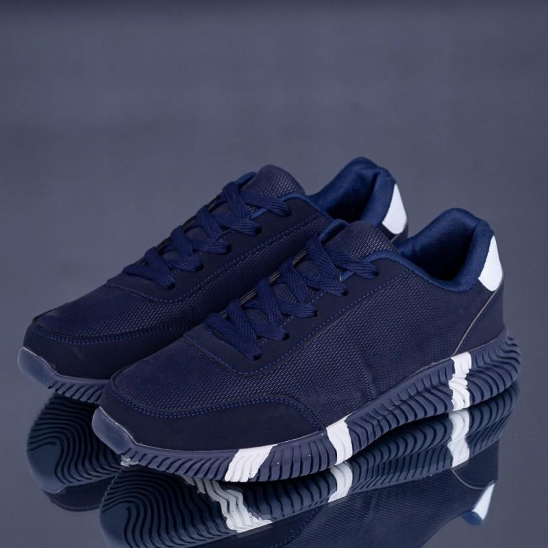 Pantofi Sport Barbati A19 Albastru inchis-Alb Erin