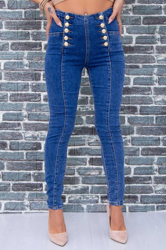 Blugi Dama K682-1 Albastru Fashion