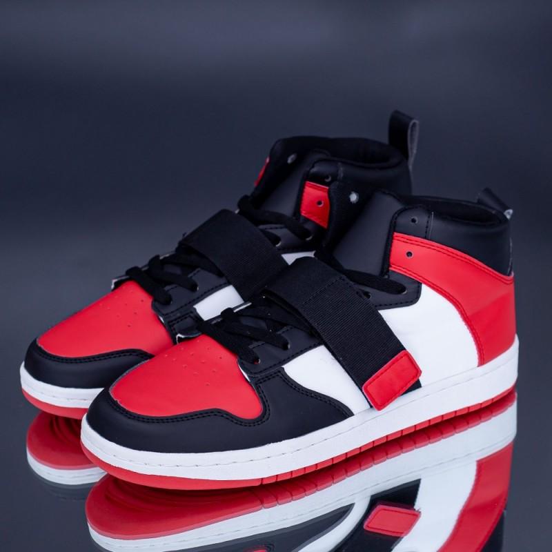 Pantofi Sport Barbati H54 Negru-Rosu Rxr