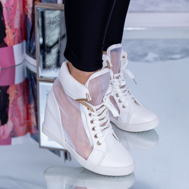 Pantofi Sport Dama cu Platforma ET2 Alb Mei