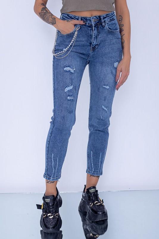 Blugi Dama 50117 Albastru Fashion