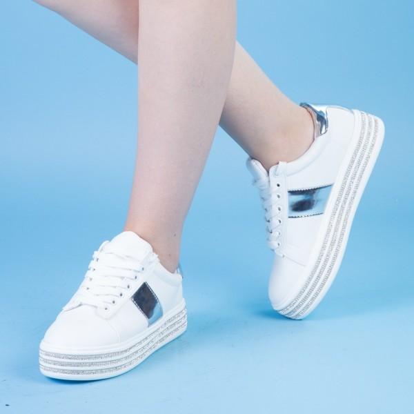 Pantofi Sport cu Platforma JET1 White Mei