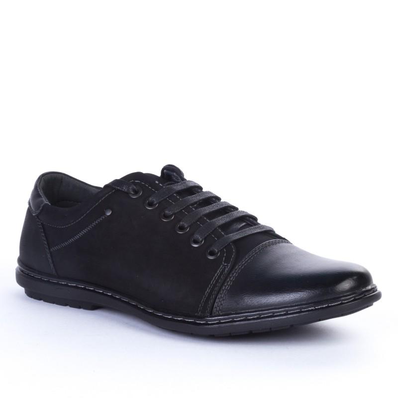 Pantofi Casual Barbati 30-62 Black Renda