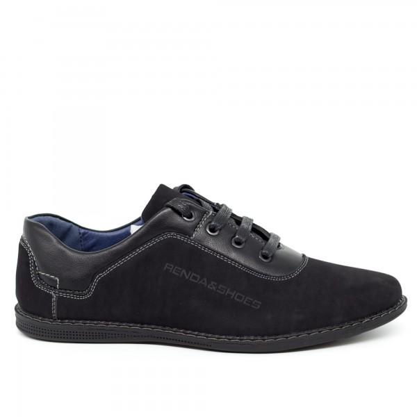 Pantofi Casual Dama T7310-8 Black Renda