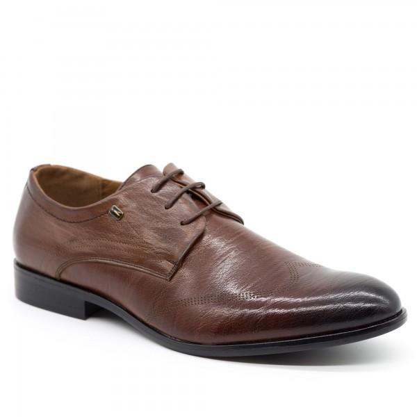 Pantofi Barbati 635 Brown OUGE Fashion