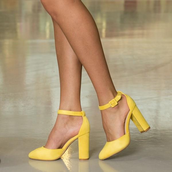 Pantofi cu Toc OL202 Black Mei