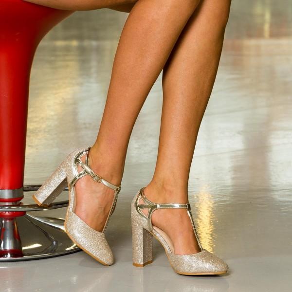 Pantofi cu Toc si Platforma OLG1B Blue Mei