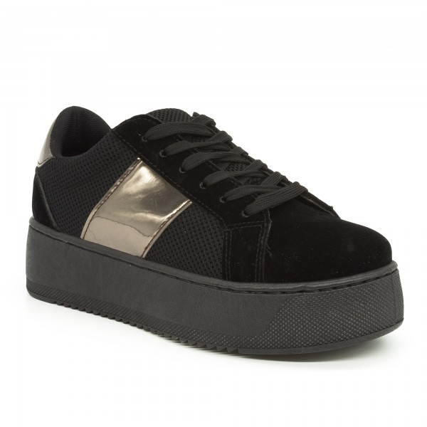 Pantofi Sport Dama cu Platforma SJN155 Black Mei