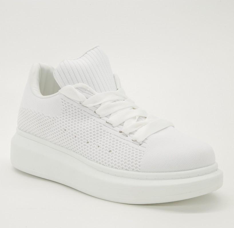 Pantofi Sport cu Platforma X541 White Se7En