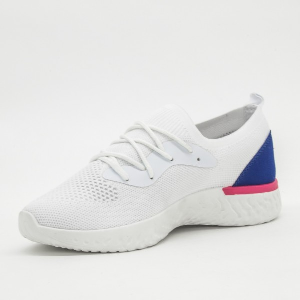 Pantofi Sport Dama cu Platforma SZ106 White Mei
