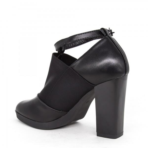 Sandale Dama cu Toc si Platforma XD70 Black Mei
