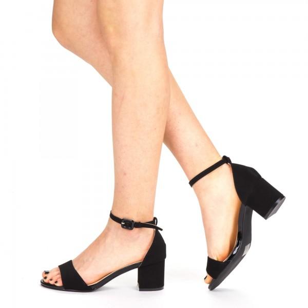 Sandale Dama cu Toc YBS37 Black Mei