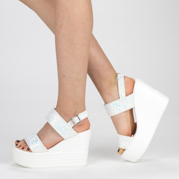 Sandale Dama cu Toc si Platforma XKK85 Black Mei