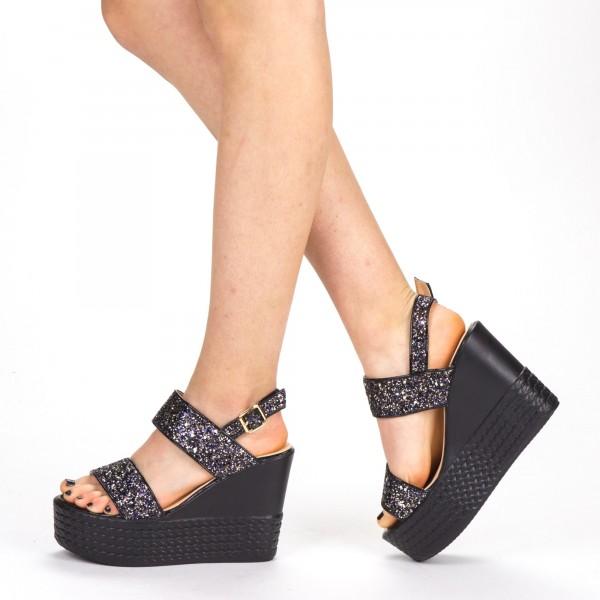 Sandale Dama cu Toc si Platforma XKK85 Pink Mei
