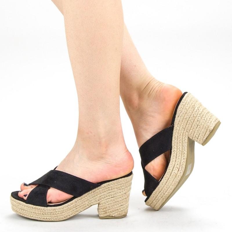 Papuci Dama cu Toc FD31 Black Mei