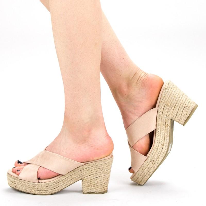 Papuci Dama cu Toc FD31 Apricot Mei