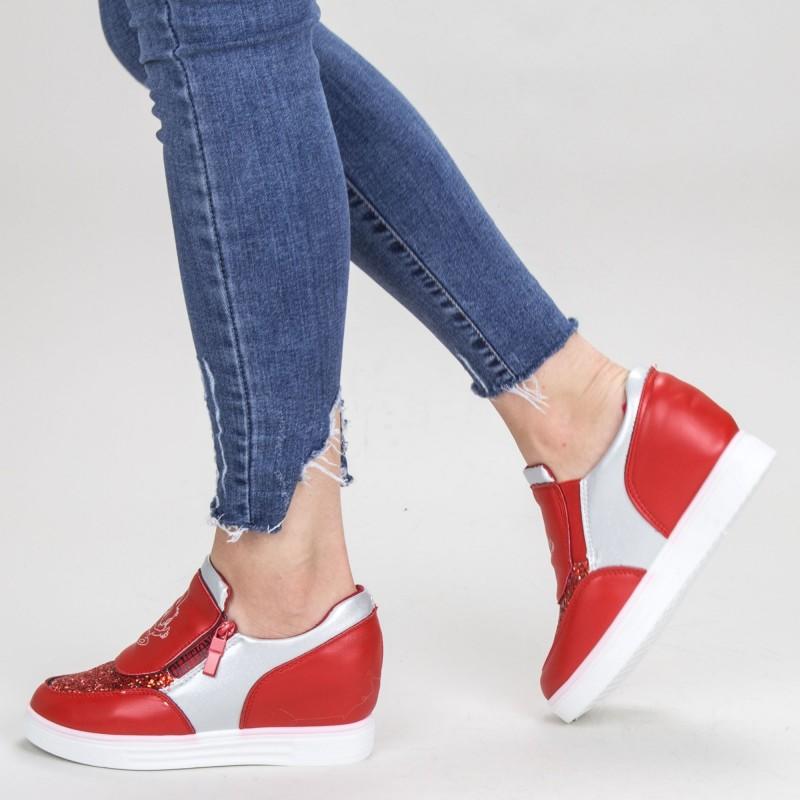 Pantofi Sport Dama cu Platforma 615 PSDP Red Mei