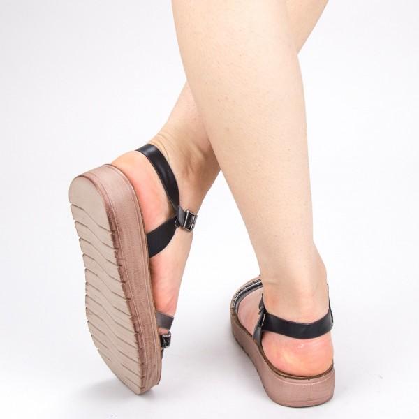 sandale dama cu platforma cs15 brown 043 mei