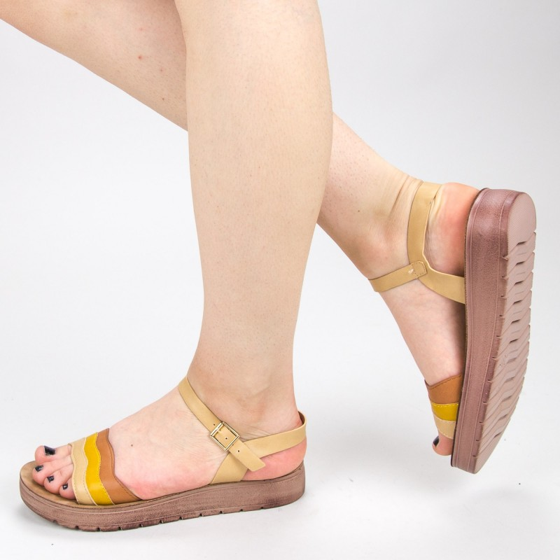 Sandale Dama CS30 Camel Mei