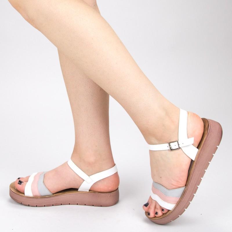 Sandale Dama CS30 White Mei