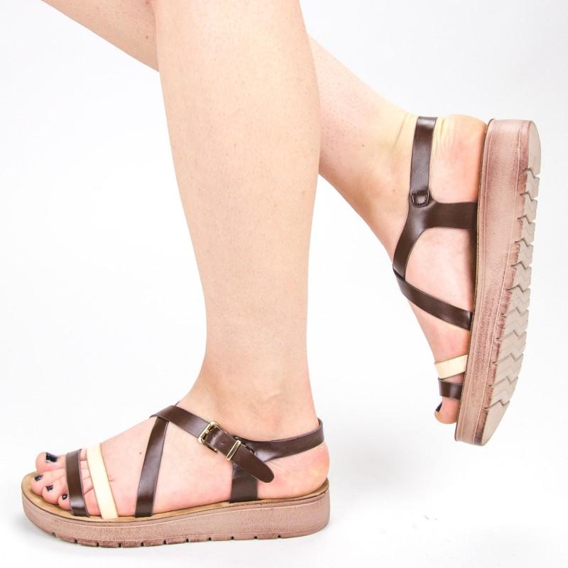 Sandale Dama CS32 Coffee Mei