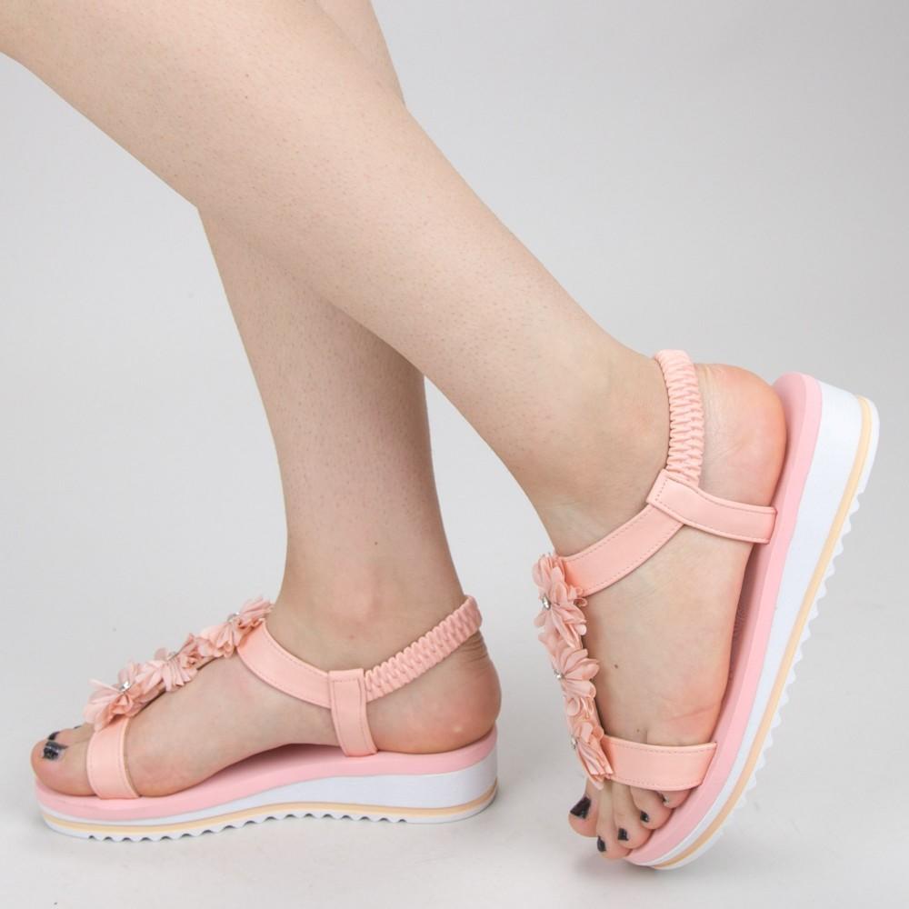 Sandale Dama cu Platforma WS150 Pink Mei