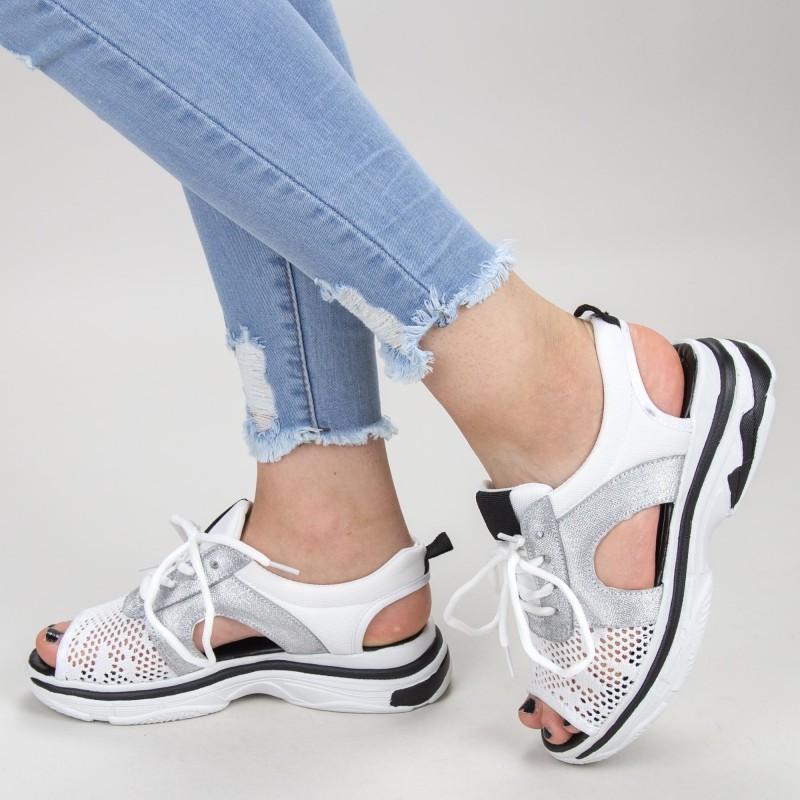 Sandale Dama WLJR1 White Mei