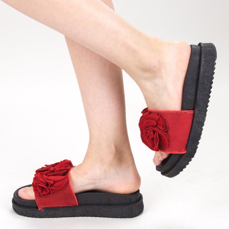 Papuci Dama cu Platforma HM-09 Red Yiyi
