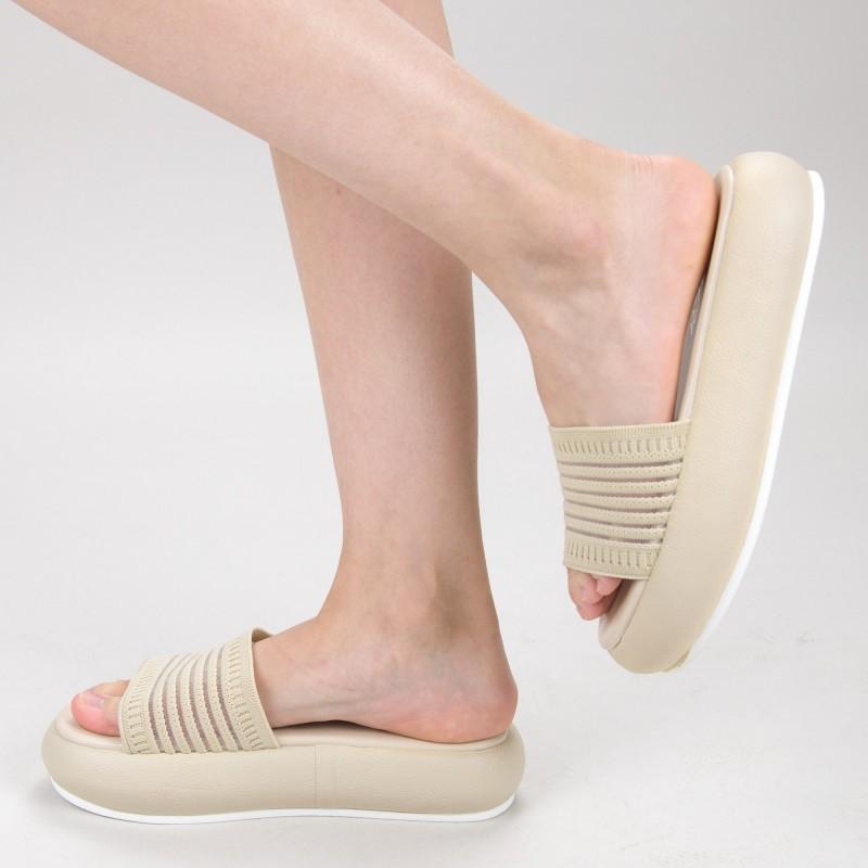 Papuci Dama cu Platforma YSY1 White Mei