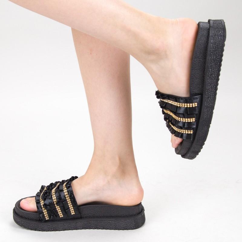 Papuci Dama cu Platforma HM-05 Black Yiyi